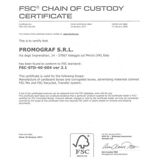 Certificato FSC